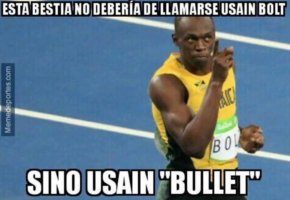 "Algunos memes piden que llamen ""la bala"" a Bolt. (Foto: Mundo Deportivo)"