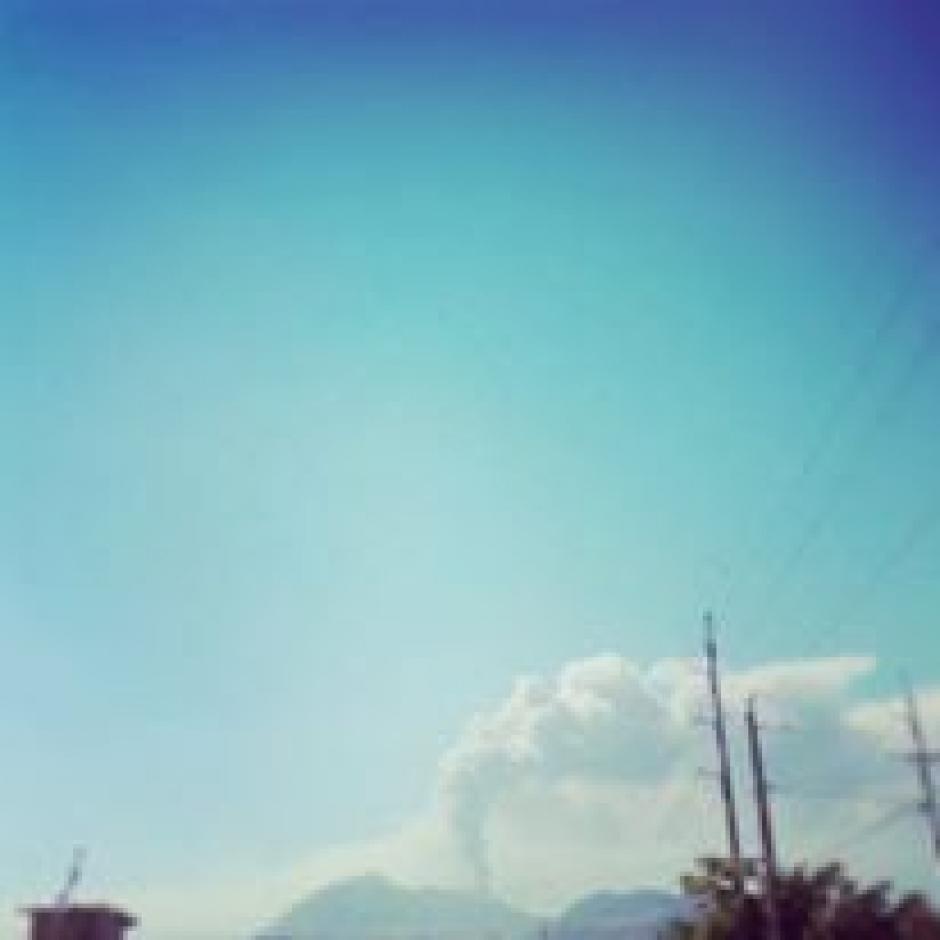 Diego Orellana envía una foto del volcán desde Villa Canales.