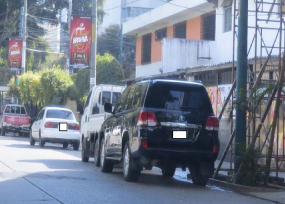 El vehículo Land Cruiser es blindada según datos del MP. (Foto: CICIG)