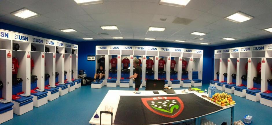 Así lucen los vestidores del Stade Vélodrome. (Foto: Facebook/velodromeOfficiel)