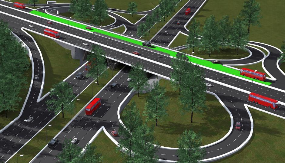 El objetivo es ampliar los carriles que conectan Majadas y la zona 7 por medio de un puente gemelo en dirección al centro de la ciudad. (Foto: Dirección de Obras/Municipalidad de Guatemala)