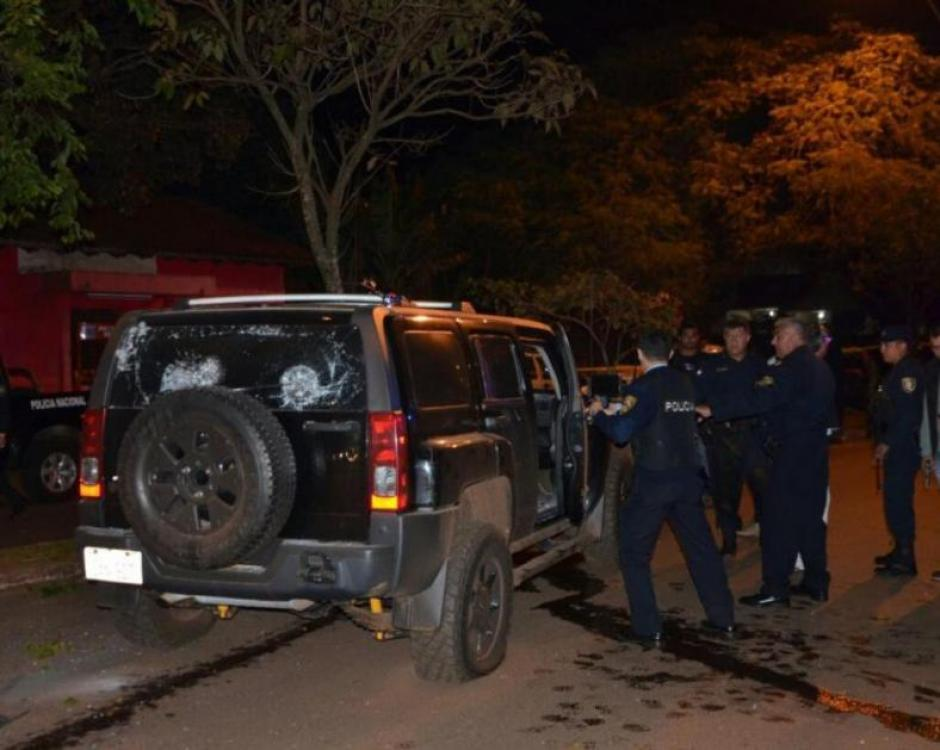 La camioneta blindada recibió 200 balazos. (Foto: Diario33)