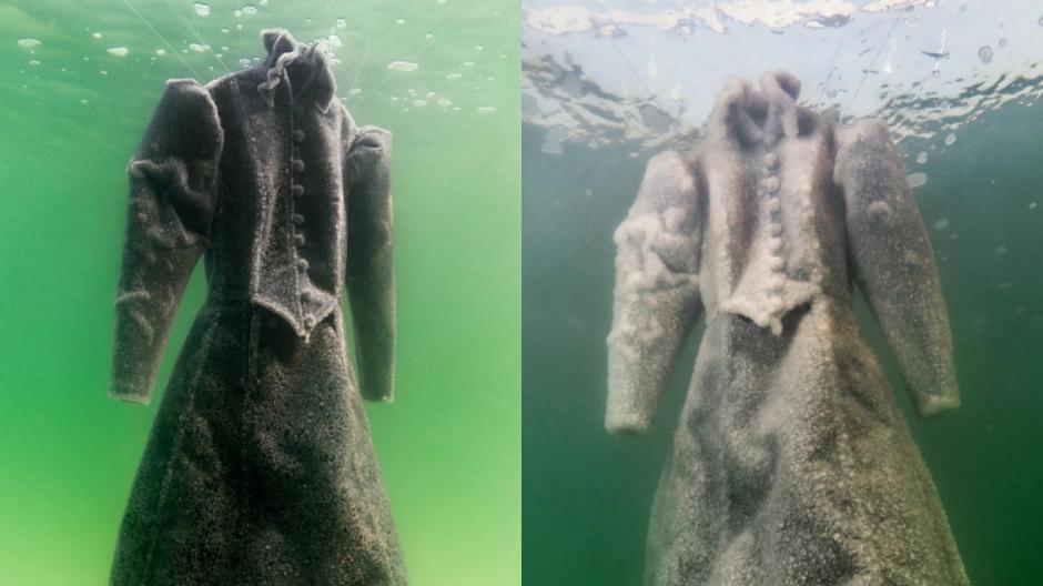 La artista Sigalit Landau sumergió un vestido en el Mar Muerto. (Foto: Instagram)