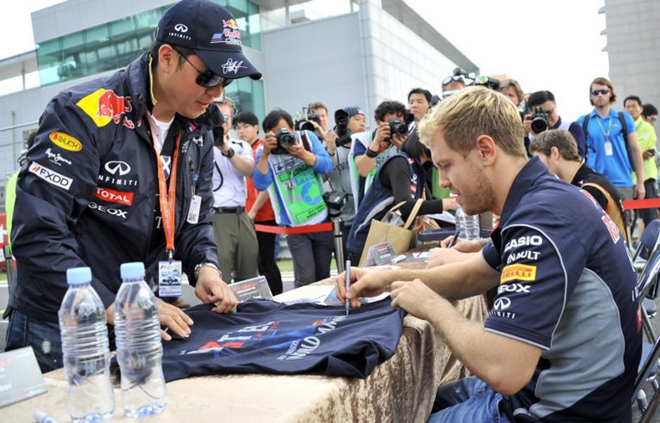 Sebastián Vettel domina los ensayos del Gran Premio de Corea. (AFP)