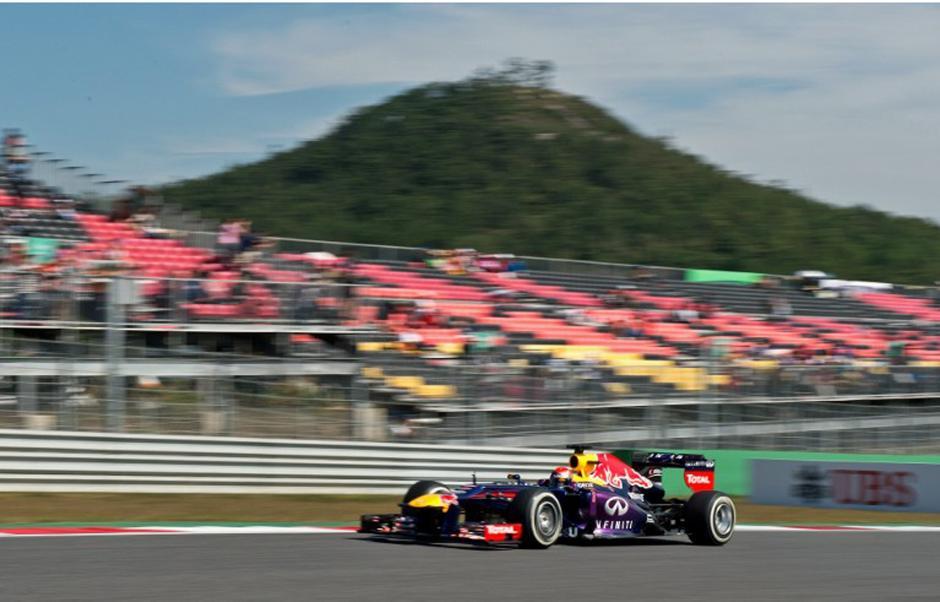 El polito alemán Sebastián Vettel domina los ensayos del Gran Premio de Corea. (AFP)