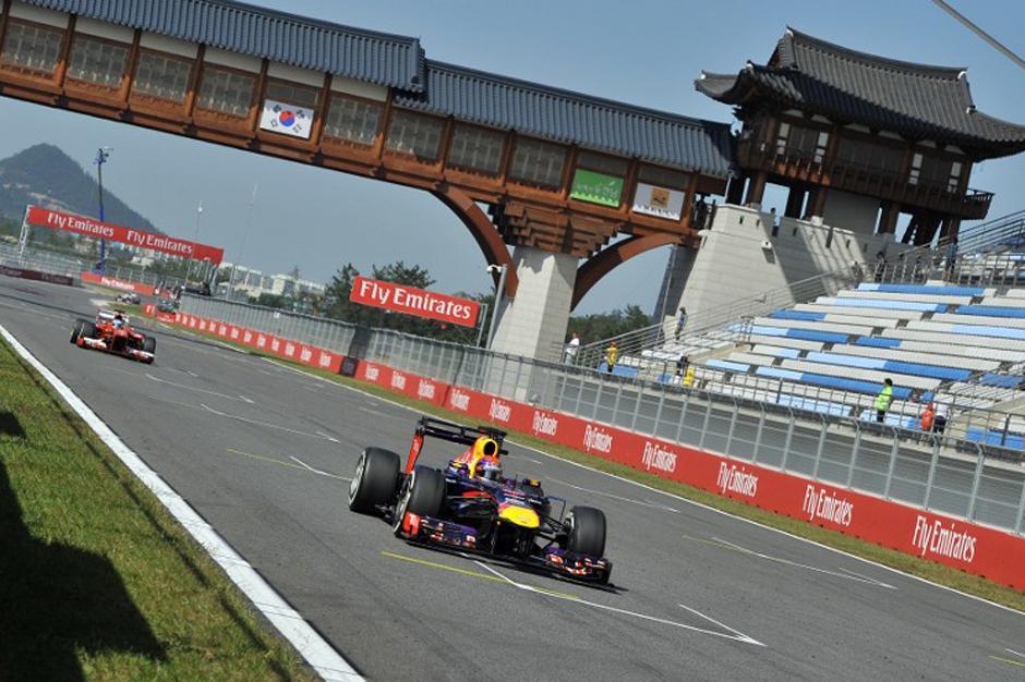 El alemán Sebastián Vettel domina los ensayos del Gran Premio de Corea. (AFP)