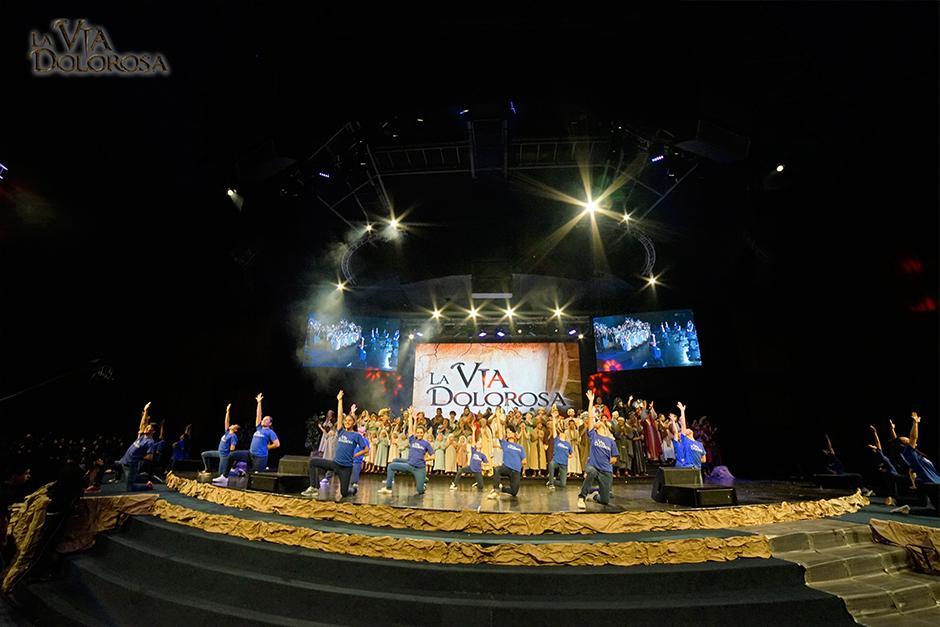 La Vía Dolorosa mezcla actuación, musicales, danzas y efectos audiovisuales. (Foto: Fraternidad Cristiana)