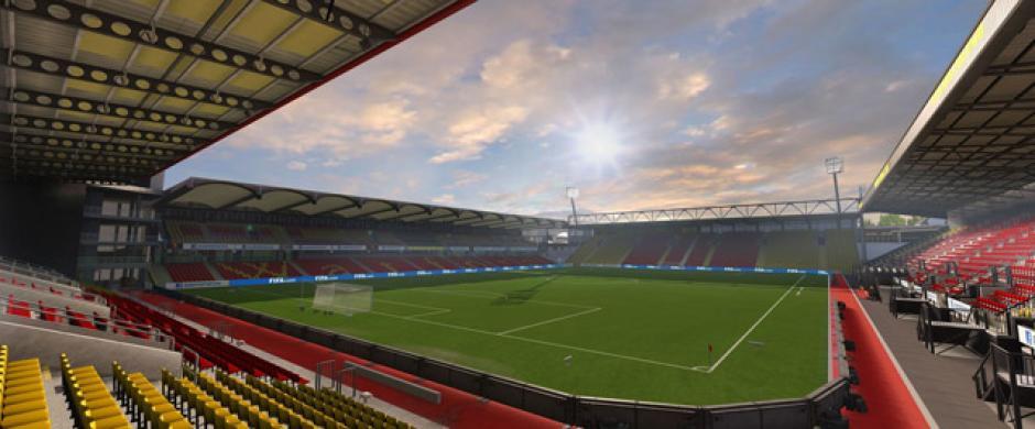 Vicarage Road (Watford, Barclays Premier League). (Imagen:Electronic Arts)