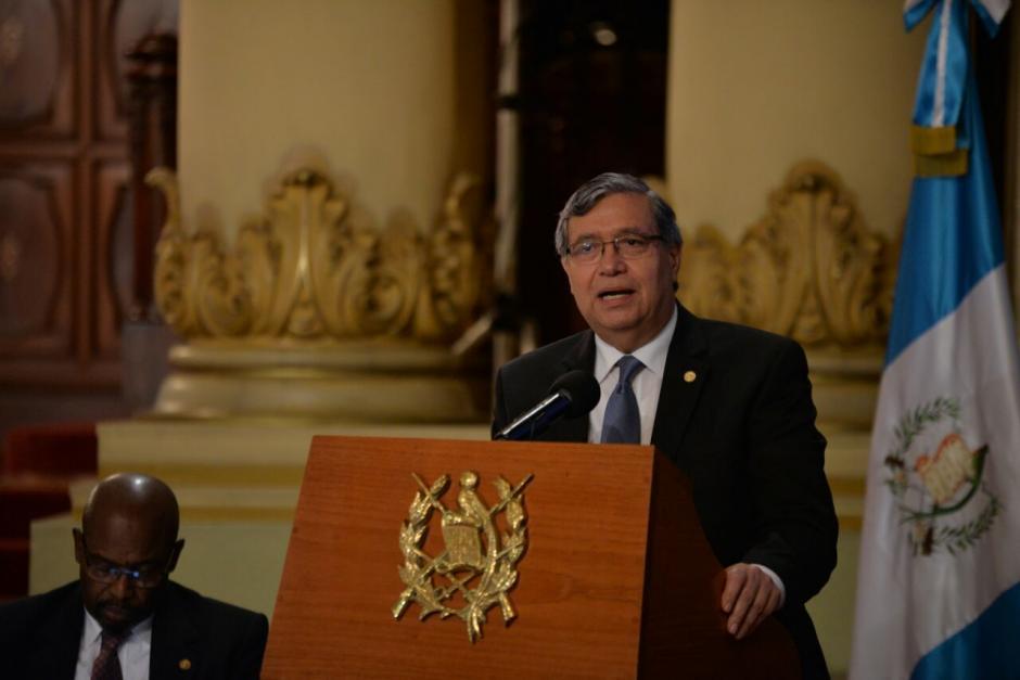 El vicepresidente Jafeth Cabrera dio su informe de gestión. (Foto: Wilder López/Soy502)
