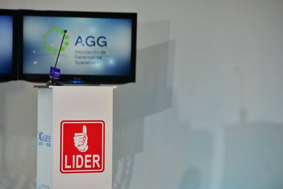 El espacio del partido Lider para Edgar Barquín durante el debate de la AGG. (Foto: Wilder López/Soy502)