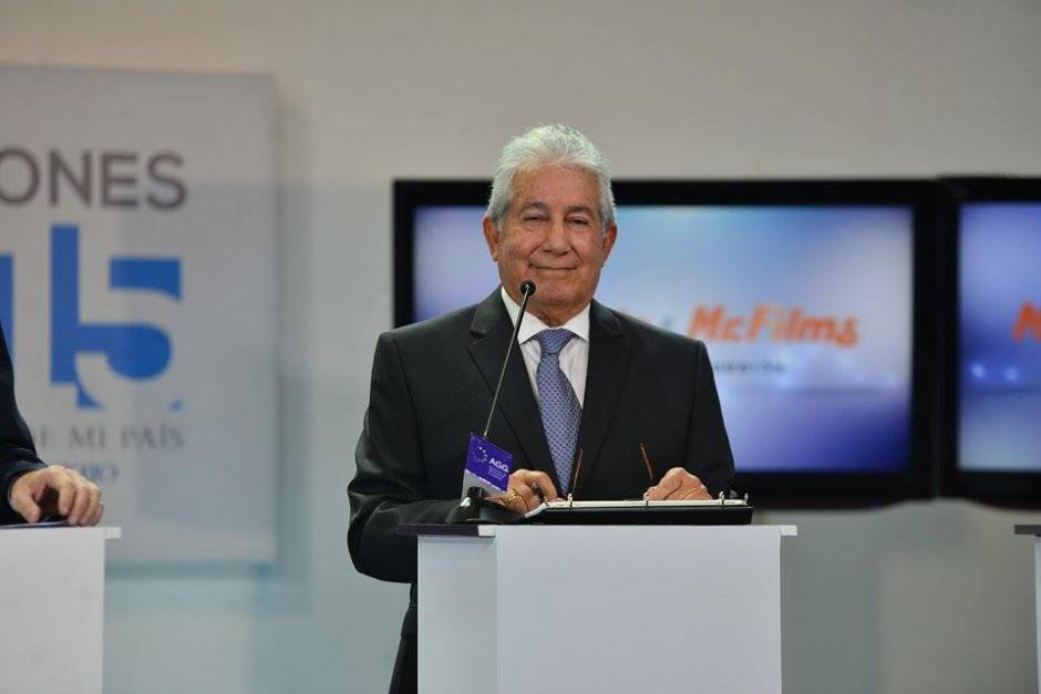 Juan Luis Mirón el candidato a la vicepresidencia del partido VIVA. (Foto: Wilder López/Soy502)