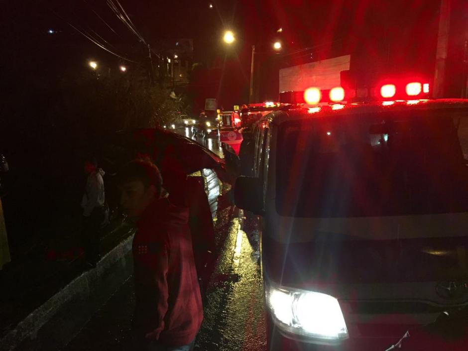 El incidente ocurrió la noche del pasado lunes.  (Foto: Municipalidad de Mixco)