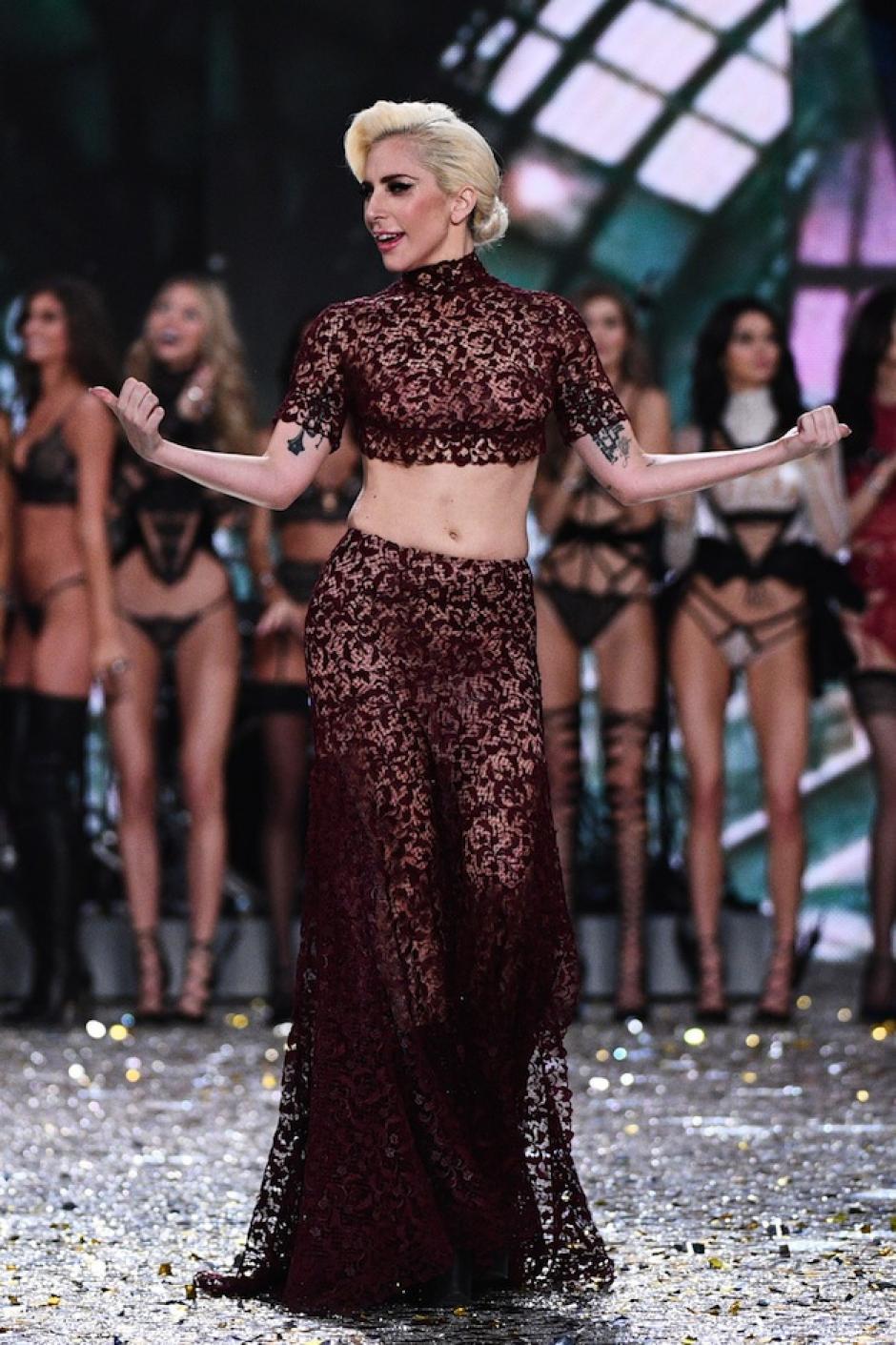 El poder de Lady Gaga se sintió en el escenario. (Foto: AFP)