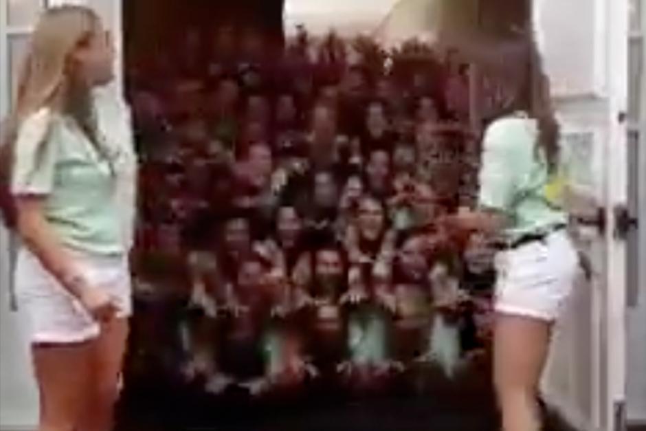 Las jóvenes fueron motivo de burla en las redes sociales. (Foto: Video)