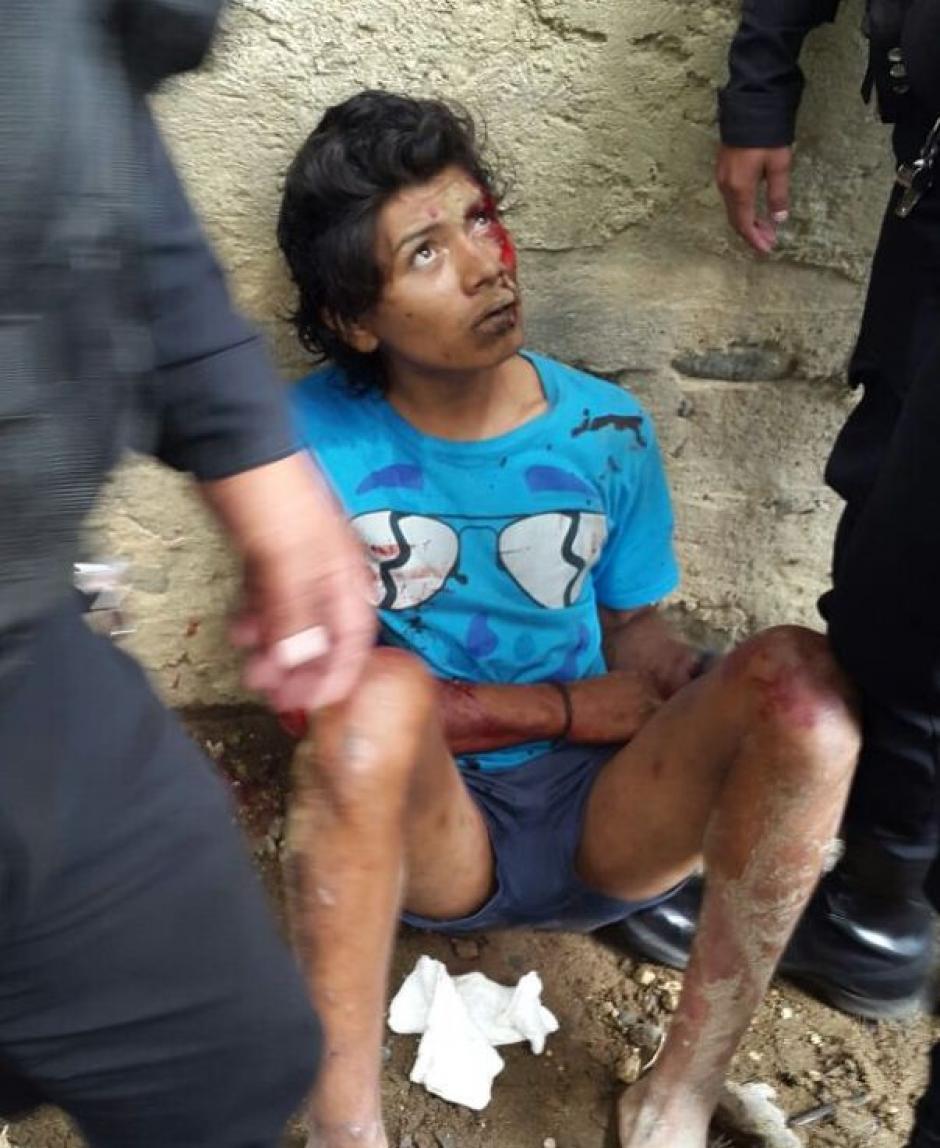 Por este hecho fue detenido Jarí Paredes Hueso, supuesto asaltante. (Foto: PNC)