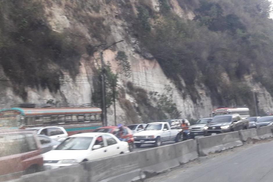 El tránsito se observa pesado sobre la cuesta de Villa Lobos. (Foto: Dalia Santos/PNC Tránsito)