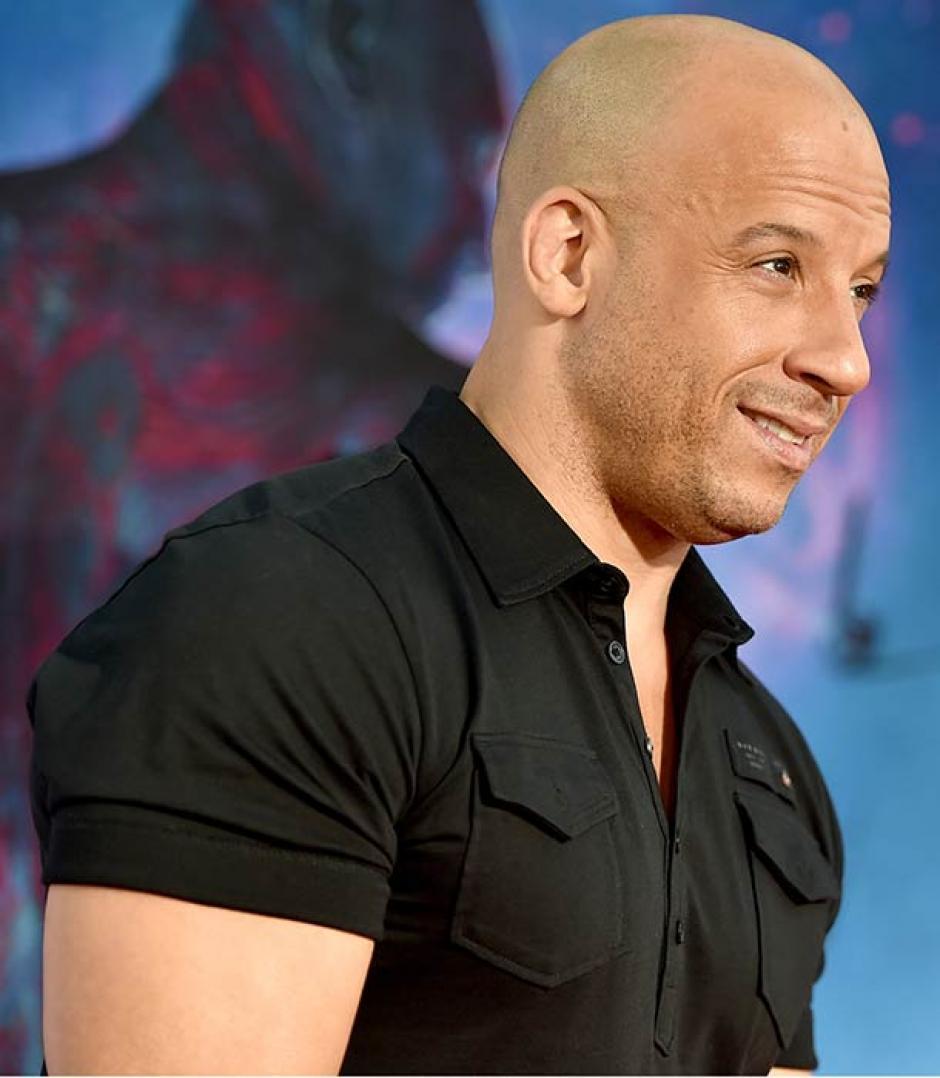 Vin Diesel sonríe: ha tenido una buena temporada.