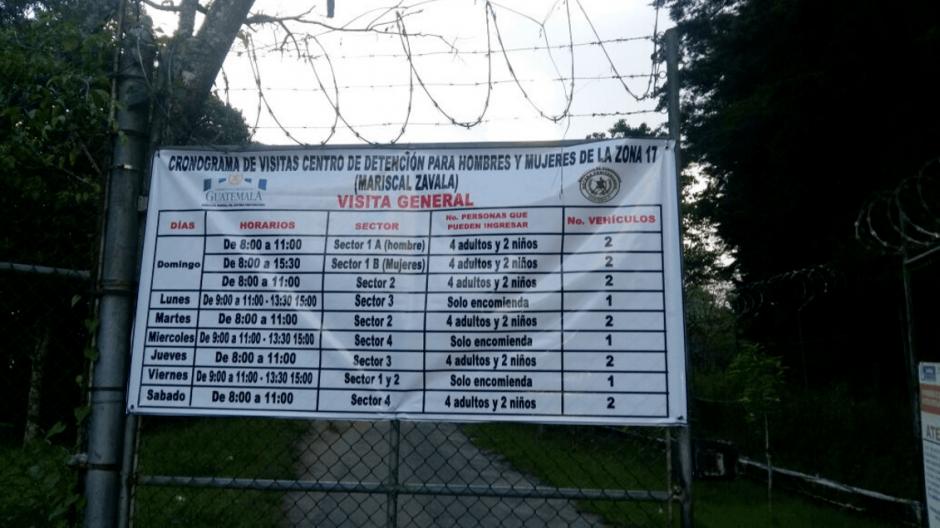 Las restricciones de las visitas inician este lunes. (Foto: Sistema Penitenciario)