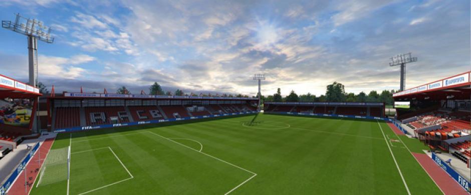Vitality Stadium (Bournemouth, Barclays Premier League). (Imagen:Electronic Arts)