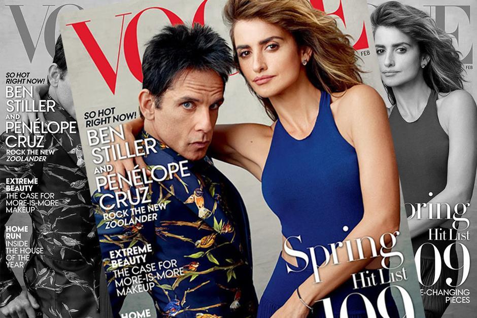 Penélope Cruz y Ben Stiller son los protagonistas de la portada de febrero.