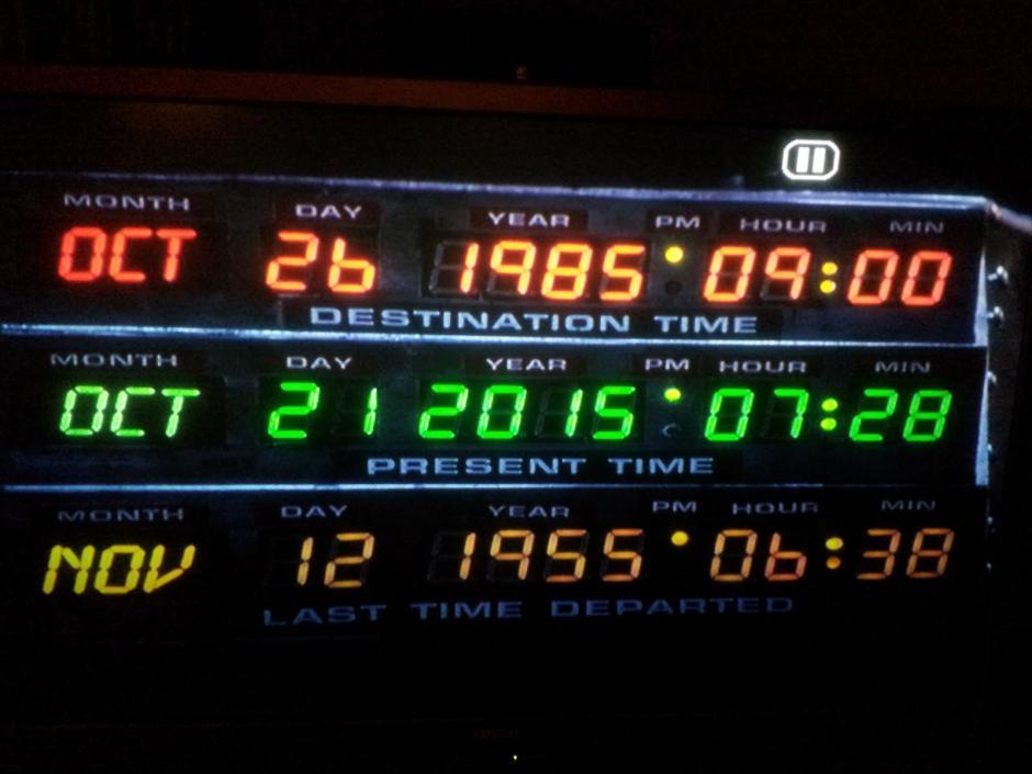 Es el 25 de octubre del 2015 cuando Marty llega al futuro, según una entrega de la saga