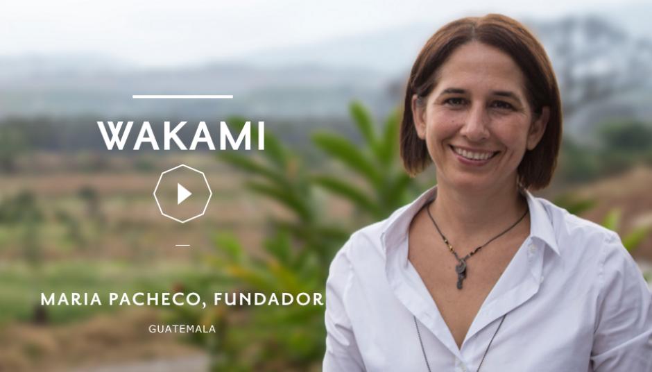 María Pacheco te invita a apoyar a Wakami con tu voto. (foto: The Venture)