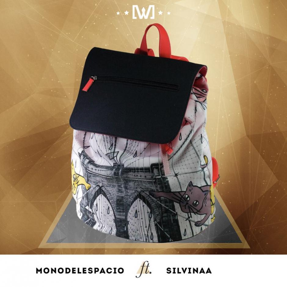Esta es una de las mochilas que se subasta en el proyecto, este modelo tiene el trabajo de Mono del Espacio y Silvinaa. (Foto: Wanderlust Wear)