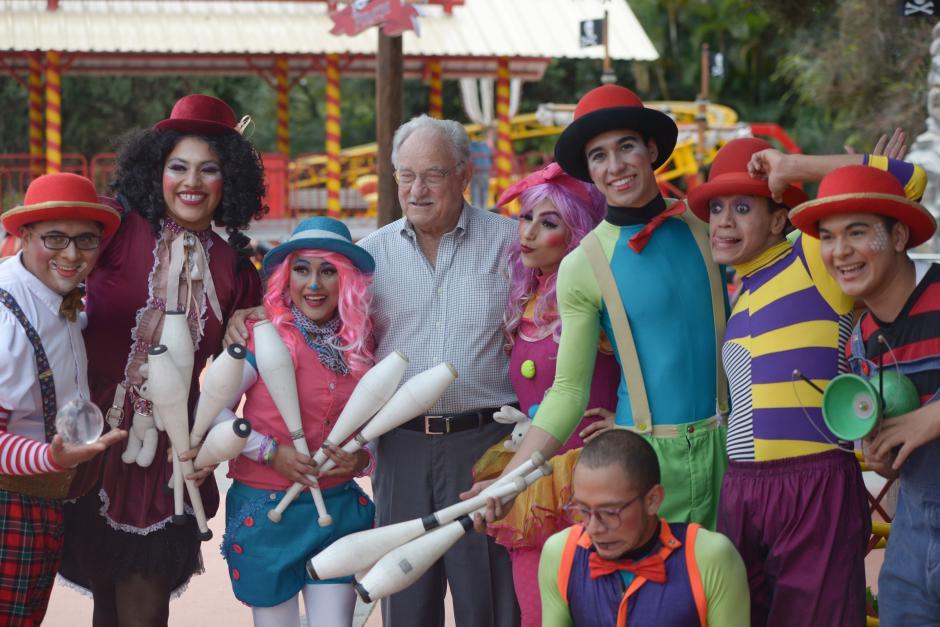 Ricardo Castillo, director general de los parques IRTRA, estuvo presente durante la inauguración. (Foto: Wilder López/Soy502)