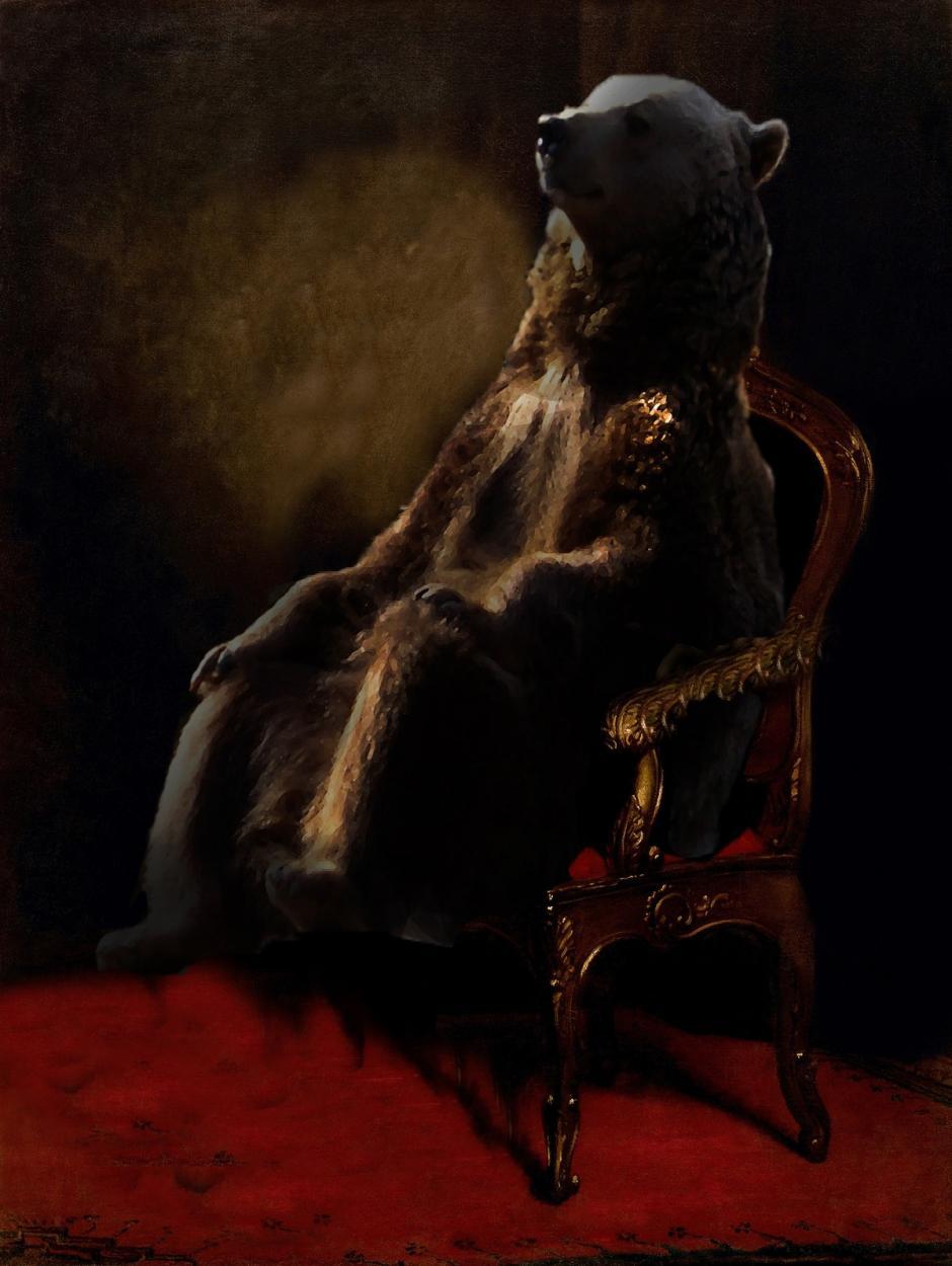 El oso sentado en un trono. (Foto: reddit.com)
