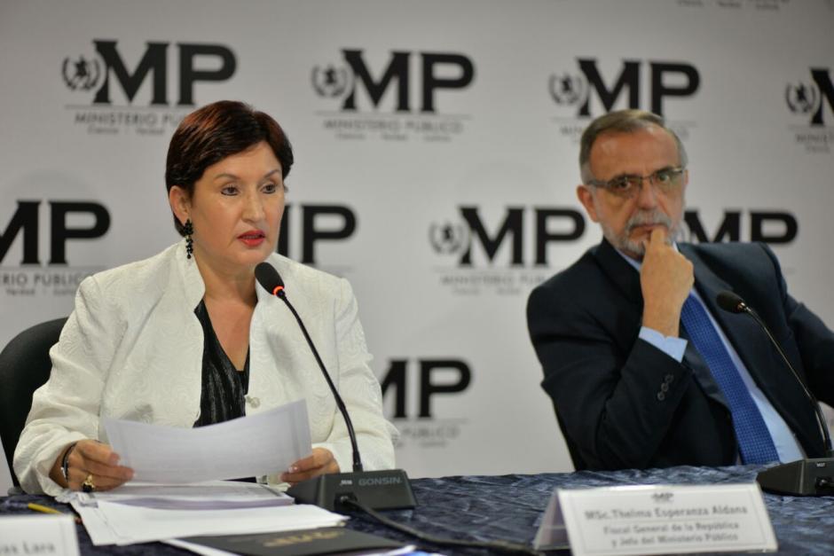 La Fiscal y el comisionado destaparon un nuevo caso de corrupción. (Foto: Wilder López/Soy502)