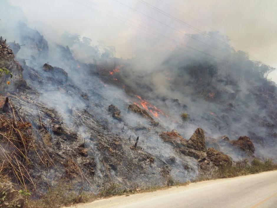 Aún queda un incendio activo. (Foto: Conap)
