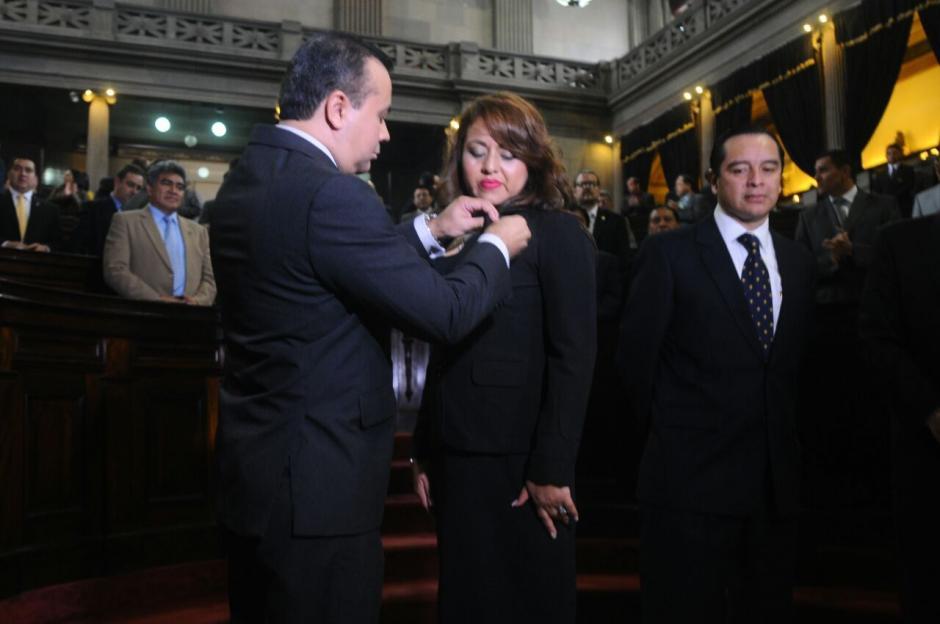 Lucrecia Samayoa, es la nueva diputada de la UNE en sustitución de Julio César López Villatoro. (Foto: Alejandro Balán/Soy502)