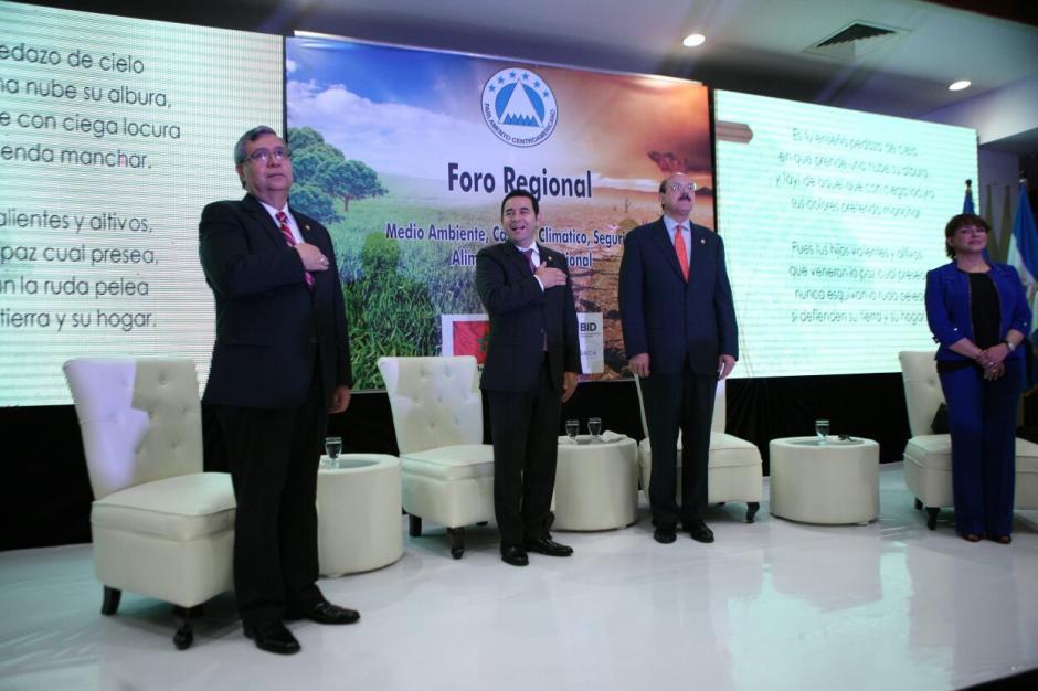 Vicepresidente Cabrera acompañó al Presidente al evento. (Foto: Presidencia)