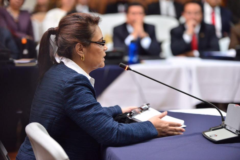 Roxana Baldetti y abogados defensores aprovecharon para atacar a la Fiscal General, Thelma Aldana. (Foto: Jesús Alfonso/Soy502)