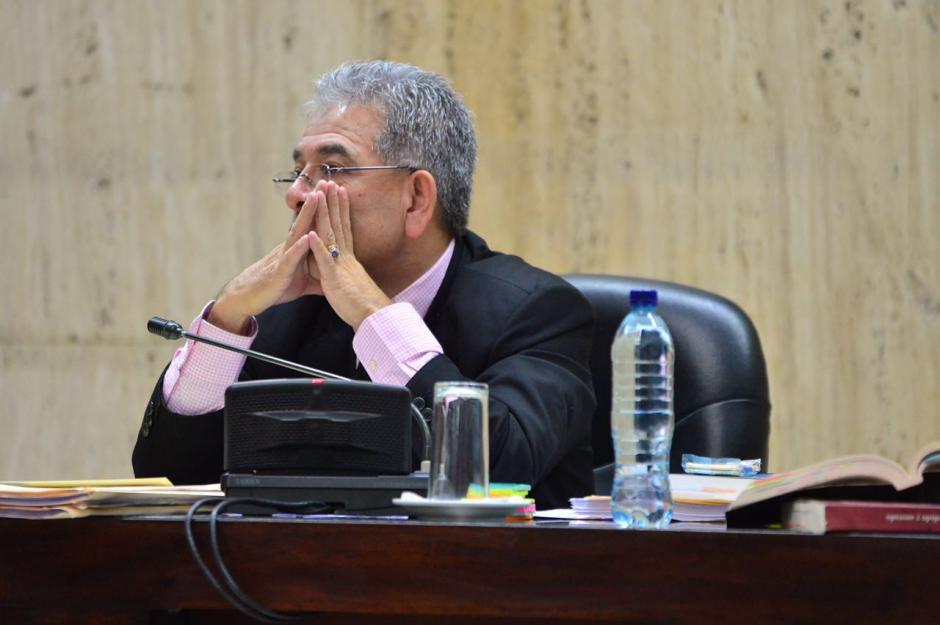 El juez Miguel Ángel Gálvez pidió a los abogados que le den tiempo de resolver la etapa actual del proceso. (Foto: Jesús Alfonso/Soy502)