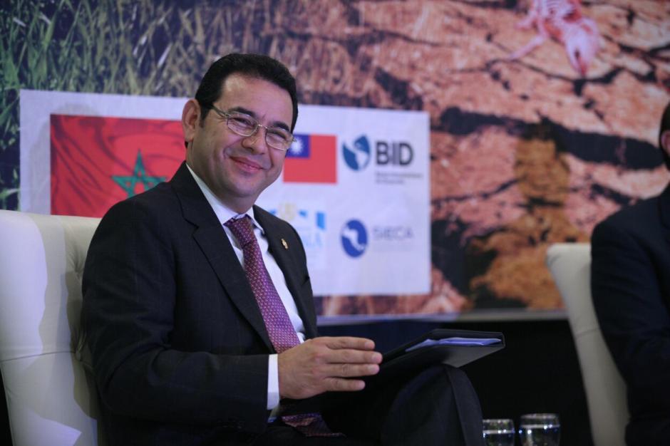 Presidente Morales participó en la inauguración del Foro sobre el Cambio Climático del Parlacen. (Foto: Presidencia)