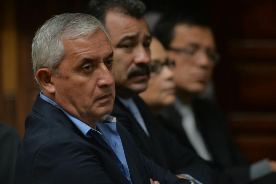 El expresidente Otto Pérez, escuchó la declaración del auditor del llamado Grupo Estrella. (Foto: Wilder López/Soy502)