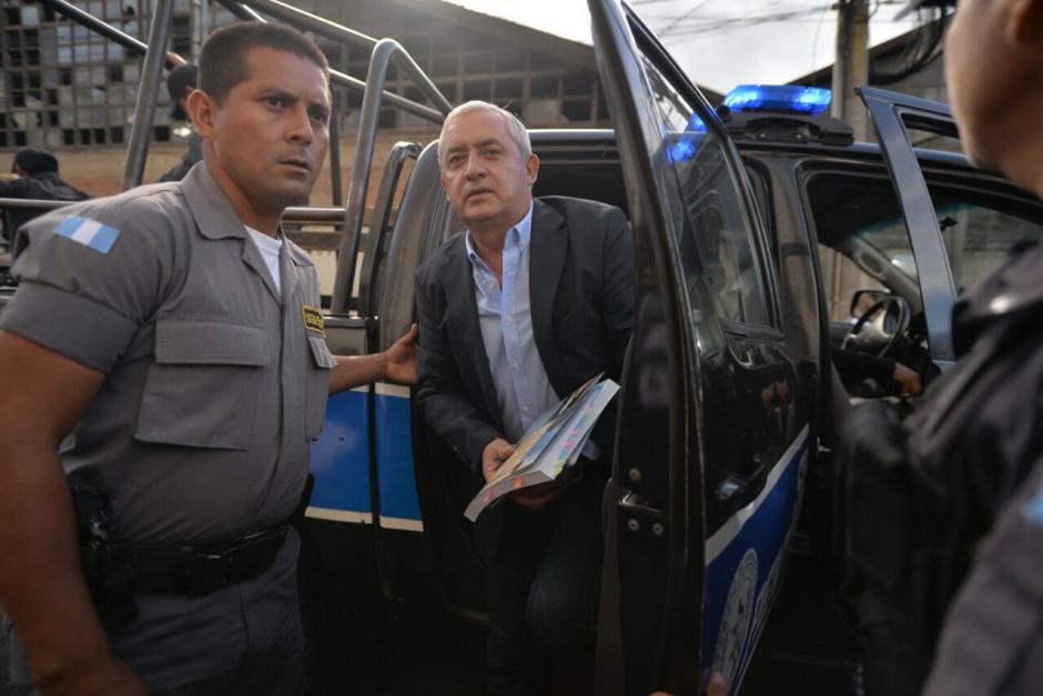 El sindicado llegó temprano a la Torre de Tribunales. (Foto: Wilder López/Soy502)