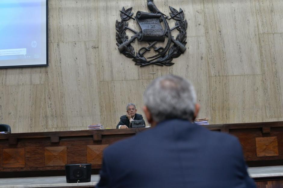 Otto Pérez Molina declaró en el tercer caso que se le imputa. (Foto: Wilder López/Soy502)