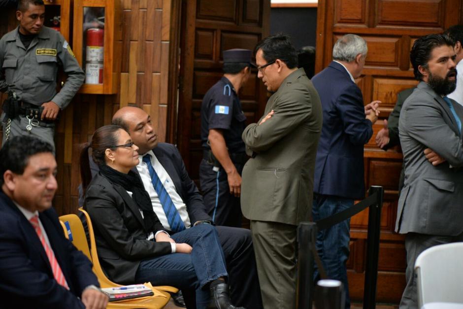 Baldetti fue notificada del embargo en plena audiencia. (Foto: Soy502)