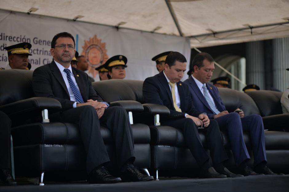 El Presidente ya no asistió al acto oficial. (Foto: Wilder López/Soy502)