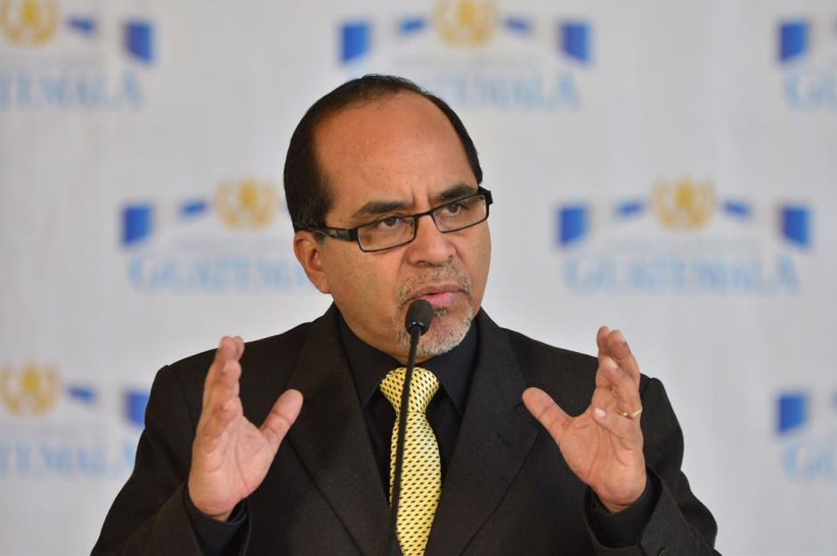 El ministro señaló que están investigando las amenazas. (Foto: Jesús Alfonso/Soy502)