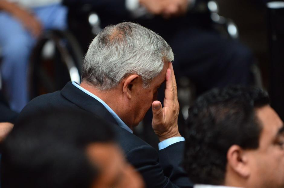 El expresidente lucía preocupado. (Foto: Jesús Alfonso/Soy502)