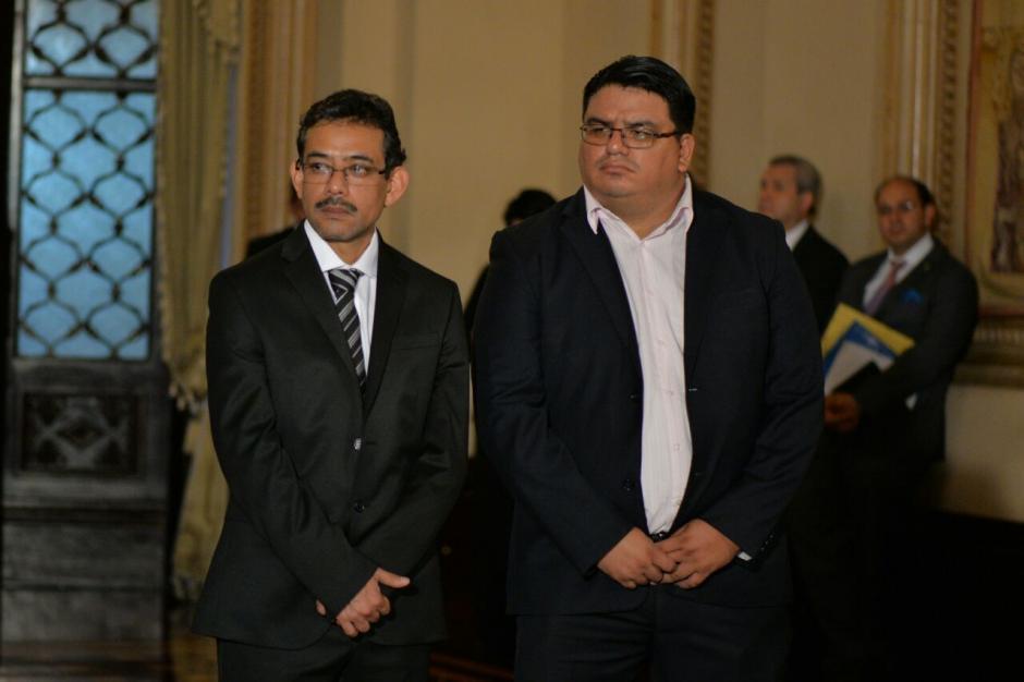Edgar González y Adrián Chávez completan su equipo como viceministros. (Foto: Wilder López/Soy502)