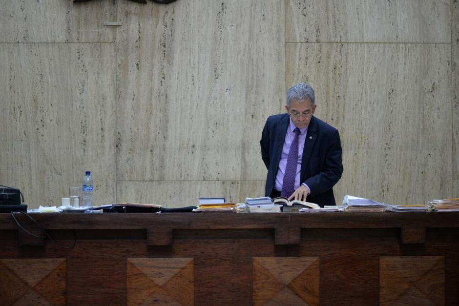 El juez Miguel Ángel Gálvez dijo que concluirá la audiencia este jueves. (Foto: Wilder López/Soy502)