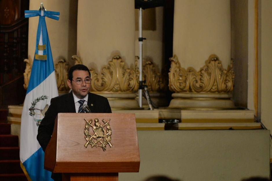 Morales negó que esto fuera un pulso con el Organismo Legislativo (Foto: Wilder López/Soy502)