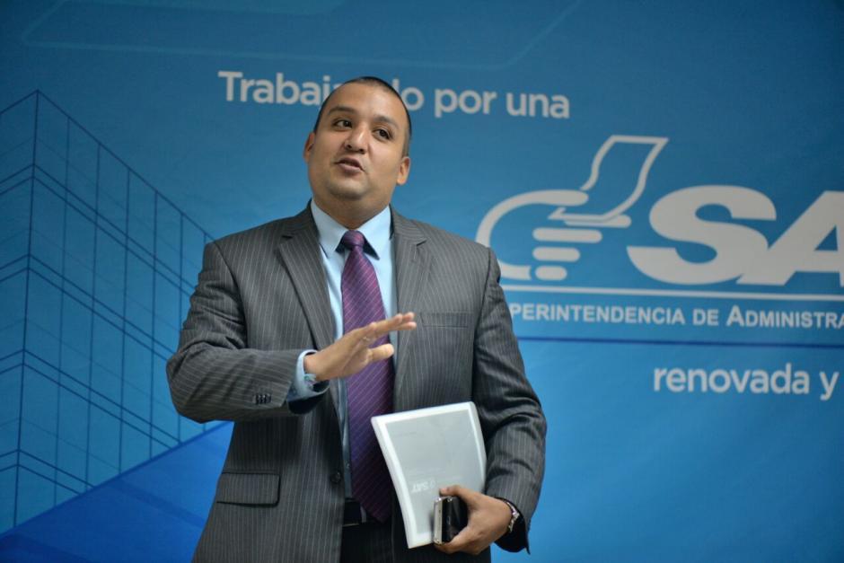 El superintendente dijo que el rescate de impuestos defraudados va a marcar una tendencia en la recaudación en los próximos meses (Foto: Wilder López/Soy502)