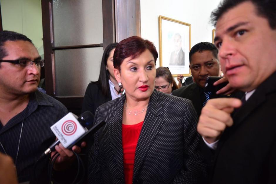 La jefa del Ministerio Público acudió al Congreso para reunirse con los jefes de bloque. (Foto: Jesús Alfonso/Soy502)