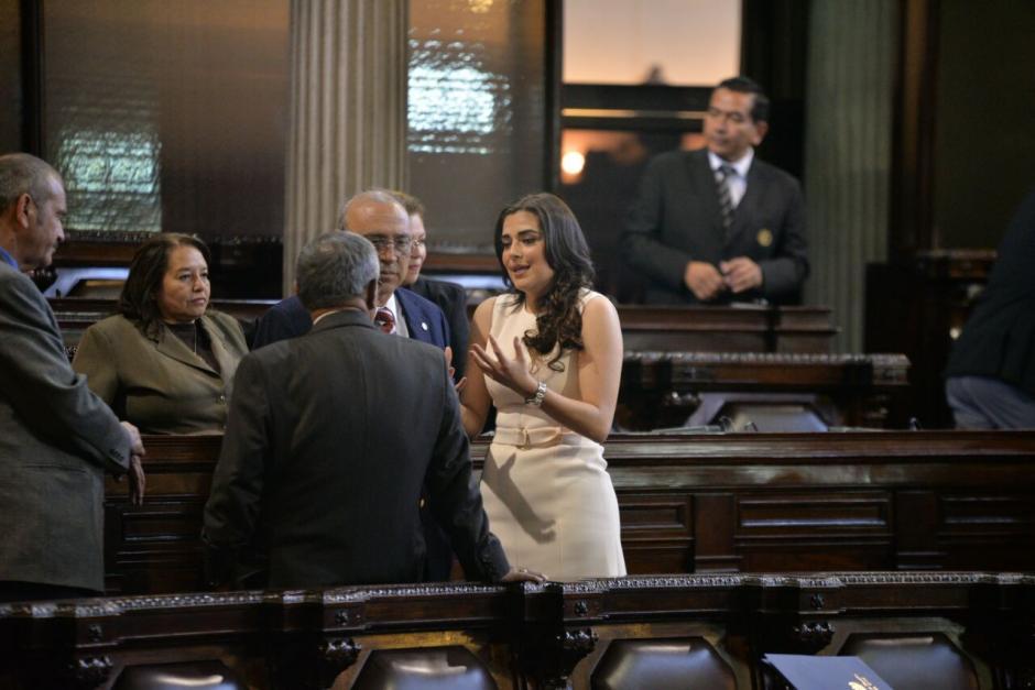 La diputada de FCN Patricia Sandoval, denunció a Javier Hernández. (Foto: Wilder López/Soy502)
