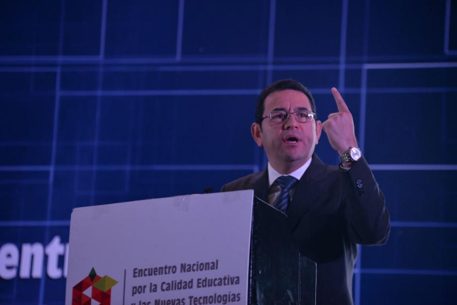 """El presidente calificó de """"mísera"""" la refacción escolar.  (Foto: Wilder López/Soy502)"""